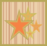 Étoiles sur un fond rayé Illustration Stock