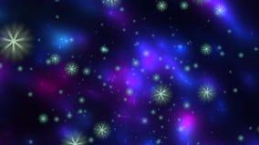 Étoiles tournant et flottant dans l'espace