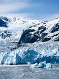 Étonnez le glacier au fjord de Harriman dans prince William Sound, hélas Photo stock