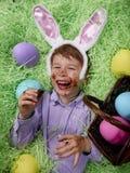 Étourdi sur le chocolat de Pâques Photos libres de droits
