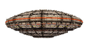 Étranger d'UFO de vaisseau spatial Photo libre de droits
