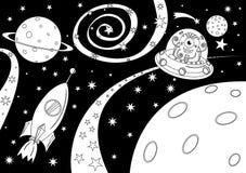 Étranger dans le vaisseau spatial Photo libre de droits