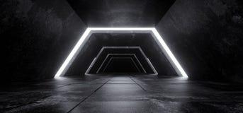 Étranger Sci fi Co concrète foncée vide minimaliste futuriste moderne image stock