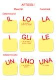 étrangers a4 de langue italienne Photo stock