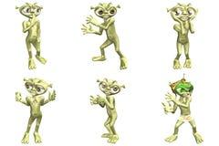 étrangers du dessin animé 3D Photo libre de droits