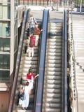 Étrangers sur l'ascenseur Image stock