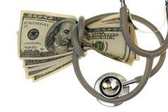 Étranglé par des coûts médicaux. Image stock