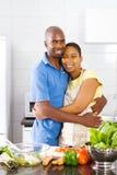 Étreindre africain de couples Photo libre de droits