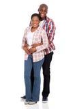 Étreindre africain de couples Images libres de droits