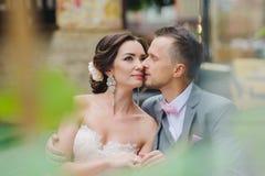 Étreindre heureux de couples Images libres de droits