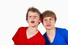 Étreindre heureux de frères Photo stock