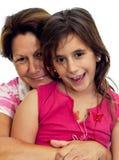 Étreindre latin de grand-mère et d'enfant Photos libres de droits
