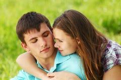 Étreinte d'amour Photos libres de droits