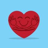 Étreinte de coeur illustration stock