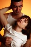 Étreinte de couples Photographie stock libre de droits
