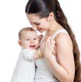 Étreinte de mère et de bébé. Concept de maternité. Image libre de droits