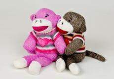 Étreinte de singe de chaussette Photographie stock libre de droits