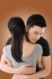 Étreinte et confort de couples Images libres de droits
