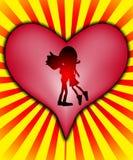 Étreinte heureuse de l'amour Photographie stock libre de droits