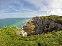 Étretat beach. In Normandie region in north-western France Royalty Free Stock Image