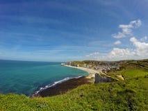 Étretat beach. In Normandie region in north-western France Stock Photography