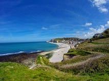 Étretat beach. In Normandie region in north-western France Royalty Free Stock Images