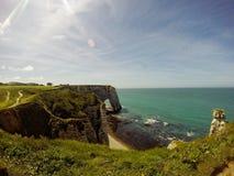Étretat beach. In Normandie region in north-western France Stock Photo