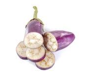 étroit d'aubergines d'isolement sur le fond blanc Photographie stock libre de droits