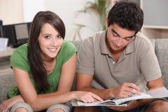 Étude adolescente de couples Image libre de droits