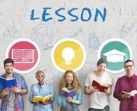 Étude apprenant le concept de la connaissance d'éducation de leçon Images libres de droits