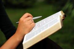Étude de bible photos stock