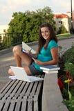 Étude de femme d'université Photos libres de droits