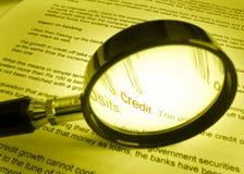 étude de finances de crédit image libre de droits