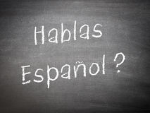 Étude de l'espagnol de concept de langue Images libres de droits