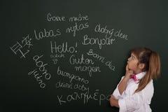 Étude des langues étrangères Image stock