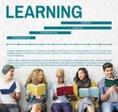 Étude du concept d'étude d'éducation de la connaissance Photos libres de droits