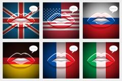 Étude du concept de langues Images stock