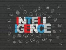 Étude du concept : Intelligence sur le fond de mur Images stock