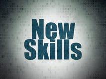 Étude du concept : Nouvelles qualifications sur le fond de papier de données numériques Photos stock