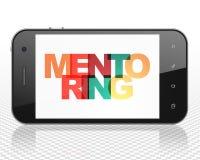 Étude du concept : Smartphone avec la tutelle sur l'affichage Image libre de droits