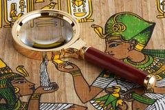 Étude du papyrus égyptien Photographie stock libre de droits