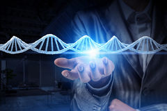 Étude et exploration de biochimie Media mélangé Media mélangé images stock