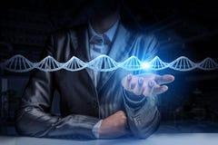 Étude et exploration de biochimie Media mélangé Media mélangé illustration de vecteur