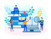 Étude, formations et séminaires d'équipe illustration stock
