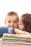 étude heureuse d'enfants Photographie stock libre de droits