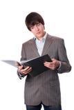 Étudiant étonné ou jeune homme d'affaires Photographie stock