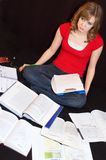 Étudiant accablé Photo libre de droits