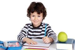 Étudiant adorable d'enfant Photo stock