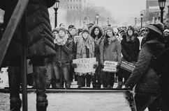 Étudiant Against School Shooting à Iowa City Photo libre de droits
