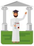 Étudiant Arabe avec le diplôme Images libres de droits